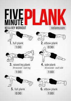 Neila Rey's Five Minute Plank Workout #Fitness slimmingtipsblog....