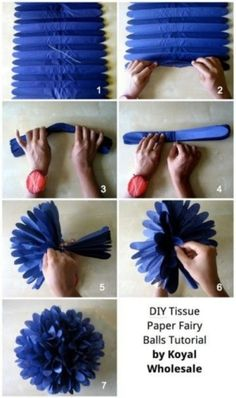 DIY Flower Pom Pom / pompón de papel china o crepeDIY: How to Make Tissue Paper Fairy Flower Ball Decorations.Perfect for that special event!tissue paper balls @ DIY Home Ideas make a bunch of these in different colors…DIY-Tissue-Pom-Poms Flowers Tissue Paper Ball, Paper Balls, Tissue Balls, Paper Poms, Tissue Paper Pom Poms Diy, Paper Flower Ball, Papel Tissue, Tissue Paper Flowers, Fun Crafts