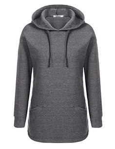Meaneor Womens Hooded Pullover Fleece Warm Hoodie With Pocket * Check out the image by visiting the link.