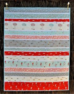 This super simple quilt would be a quick weekend project or great way to practice hand quilting. I like...