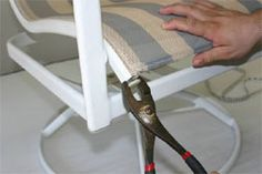 how to replace fabric on patio chair