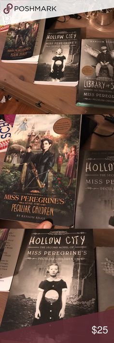 Miss Peregrine's home for peculiar children books Collection of this fantasy story! Good used condition. Best value!! none Other