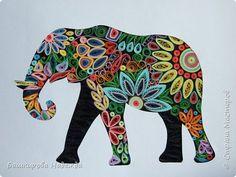 """Здравствуйте! Не помню, у кого я увидела такого слоника, но точно помню, что это был """"Радужный слоник"""". К сожалению, не могу дать ссылку на ту работу.  Пусть простит меня за это создательница того """"радужного слоника"""". Я для себя сделала подобного, особенно нравится детям мой слон,"""