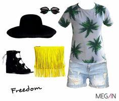 #fashion #mujer #fashionmegan #palmeras #beach #freedom