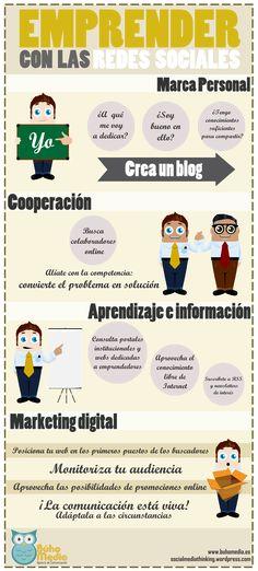 Las Redes Sociales te ayudan a emprender #infografia #infographic #socialmedia