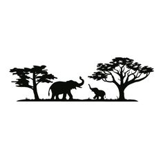 the smaller elephant as a tattoo