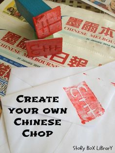 Chinese Chops that children can create. A Story Box Library 'At Home Activity'.