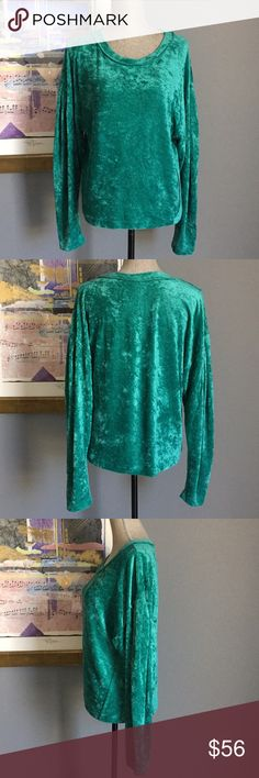 Free People Lightweight Velvet Top  XS S M Soft and ultra comfortable velvet scoop neck top from We The Free/Free People!  Made of 61% polyester/39% rayon.  Machine wash/dry.  Size Medium being displayed on mannequin. Free People Tops