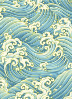 Japanese Waves Patterns by Hyakka Ryoran - Matsuri | #Seaside #Coastal living