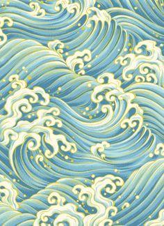 Japanese Waves Patterns by Hyakka Ryoran - Matsuri | #Seaside #Coastal living