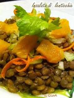 Insalata di lenticchie e arancia