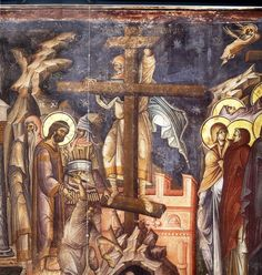 The preparation of the Crucifixion Date: 1312 Holy Monastery of Vatopedi, Mount Athos
