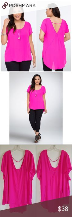 "Torrid Hot Pink Hi Lo Short Sleeve Blouse Torrid Hot Pink Hi Lo Short Sleeve Blouse. Size 6X. Excellent, Like New! No rips, tears, stains or runs. Sold out! 2016 Resort. Approximate Measurements: 33"" Front L; 40"" Back L; 34"" PTP. No Trades! All Reasonable Offers Accepted. Bundles: 20% OFF 2 or More! torrid Tops Blouses"