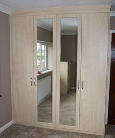 A custom fitted Moonlight Bedroom with mirrored doors.  #bedroom #ideas #yorkshire
