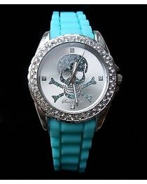 Skull Watch Turquoise