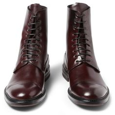 Lace-Up Leather Boots by Alexander McQueen