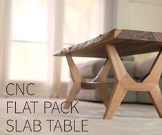 Flat-Pack CNC Modern Coffee Table Flat-Pack CNC Modern Coffee Table We really wanted to make a piece of flat-pack, CNC Furniture Projects, Wood Projects, Furniture Design, Kid Furniture, Slab Table, Cnc Wood, Woodworking Projects Diy, Woodworking Tools, Woodworking Apron