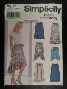 Simplicity 5597 Misses Set of Skirts with by Noahslady4Patterns