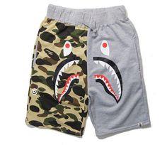 BAPE Camo Shark Head Jogger Shorts