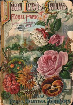 1891 John Lewis Childs' Floral Park - New, Rare & Beautiful Flowers Catalogue cover