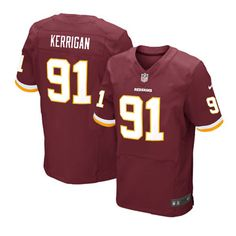 The officially licensed Nike NFL Elite Men's Washington Redskins #91 Ryan Kerrigan Team Color Jersey provides ultimate breathability so you can enjoy the superior comfort while rooting for your favorite player. This Nike NFL Elite Men's Washington Redskins #91 Ryan Kerrigan Team Color Jersey is constructed with water-repelling fabric to keep you dry and with a tailored fit to keep you comfortable.$129.99
