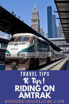 Traveling by Amtrak can save tons of money, especially if you're going to a place with expensive parking. Kick your feet up and try Amtrak! Here are my 10 tips for traveling.including how to score complimentary snacks and a glass of WINE! Ways To Travel, Packing Tips For Travel, Amtrak Train Travel, Train Trip, Bucket List Family, Road Trip Hacks, Road Trips, Best Travel Guides, Group Travel