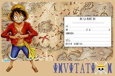 Invitation anniversaire One Piece � Luffy
