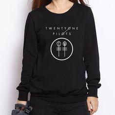 Twenty One Pilots Logo Print Hoodies Women Winter Casual Crew Neck Sweatshirt Women's Tracksuits Harajuku Top Quality