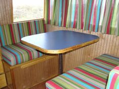 i like the stripes. the woman who writes this blog renovates campers.