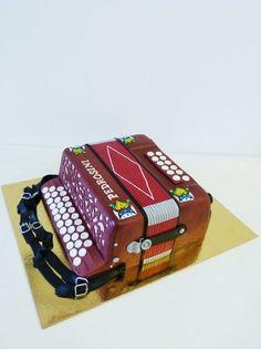 Accordion cake Cake by HaveSomeSugar Music Themed Cakes, Music Cakes, Fancy Cakes, Cute Cakes, Beautiful Cakes, Amazing Cakes, Fondant Cakes, Cupcake Cakes, Cake Pops