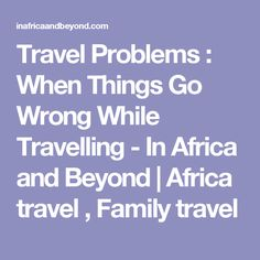Travel Problems : Wh