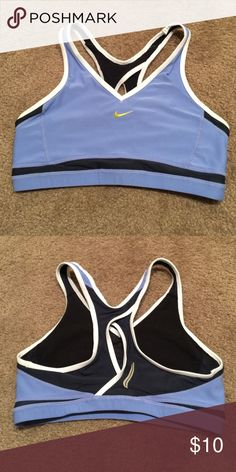 Nike Dri-Fit Sports Bra - size M Gently used Nike sports bra.  In really good condition but has some light pilling on lining from wear.  I do consider reasonable offers or you can bundle for a discount! 😀👍🏻 Nike Intimates & Sleepwear Bras