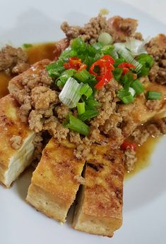 Singapore Home Cooks: Fried Bean curd with Minced Pork by Jeannie Lee