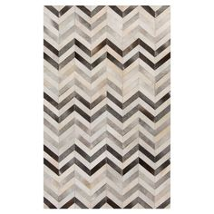 Anchor your living room seating group or define space in the den with this artfully handcrafted leather rug, featuring a chevron motif for eye-catching appea. Paper Scrapbook, Modern Decor, Modern Furniture, Accent Furniture, Chevron Rugs, Gray Chevron, 3d Home, Cow Hide Rug, Hide Rugs