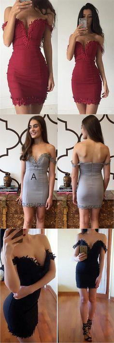 207 short prom dress homecoming dress, off the shoulder party dress, party dress, short red prom dress, short silver prom dress, short black prom dress, homecoming dress