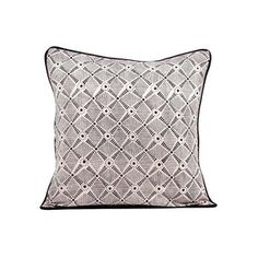 """Spokes Pillow 16"""" Black Charcoal, $30, now featured on Fab."""