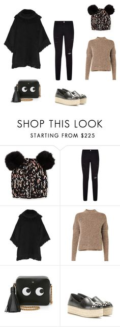 """""""Untitled #871"""" by danaalsanea ❤ liked on Polyvore featuring Eugenia Kim, Frame Denim, Dolce&Gabbana, By Malene Birger, Anya Hindmarch and Miu Miu"""