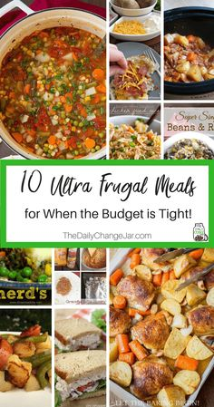 Food makes up a lot of our budgets. But what do you do when money is really tight? Here are 10 frugal meals to make when you're broke. frugal meals, frugal meals healthy, frugal meals for four, frugal Cheap Easy Meals, Inexpensive Meals, Cheap Dinners, Frugal Meals, Budget Meals, Frugal Recipes, Healthy Recipes, Cheap Meals For Two, Kid Meals