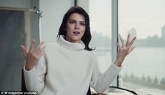 New direction:Kendall opens the clip by expressing her own desires to be an artist