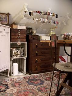 storage galore | Flickr - Photo Sharing! Great idea for storage with sloped ceilings!
