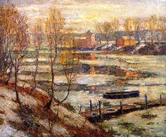 In the River (Ernest Lawson - circa 1907)