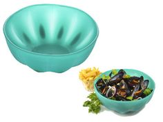 """Charles Viancin Melon Bowl- Aqua is great for preparing and serving food. Made of silicone. Microwave safe. 10.75"""" diameter x 4.5""""depth - $11.95"""