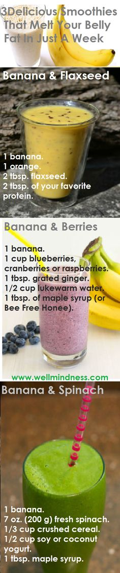 """These smoothies make a real invasion of belly fat in the early morning hours, when the fat """"sleeps"""", but they will be a great replacement for your breakfast."""