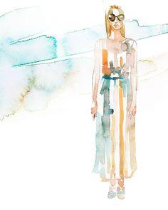 Backstage Illustrations From Carolina Herrera - The Cut