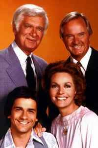 "Barnaby Jones is a television detective series starring Buddy Ebsen and Lee Meriwether as father- and daughter-in-law who run a private detective firm in Los Angeles. The show ran on CBS from January 28, 1973 to April 3, 1980, beginning as a midseason replacement. William Conrad guest starred as Frank Cannon of Cannon on the first episode of Barnaby Jones, ""Requiem for a Son"" and the two series had a two-part crossover episode in 1975, ""The Deadly Conspiracy""."