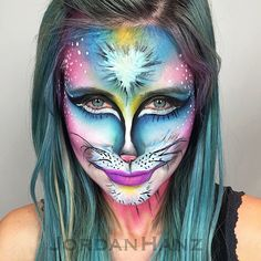Pin for Later: Wicked Makeup Transformations to Inspire Your Halloween Costume Psychedelic Kitty