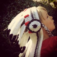 Big Chief Indian Headdress Crochet Pattern PDF by steelandstitch