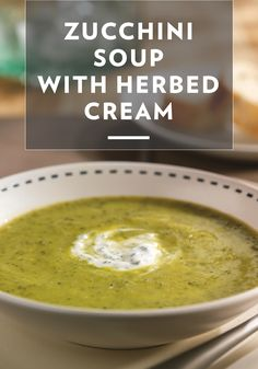 Looking for a new vegetarian recipe to try? Smooth, creamy zucchini soup is topped with herbed sour cream in this one-of-a-kind dish. Fresh oregano and basil bring out bright flavors in this aromatic soup recipe – it's guaranteed to help you get your veggie fill in for the day!