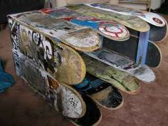 Recycled Skateboard Coffee Table ... just to cool