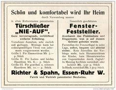 Original-Werbung/Inserat/ Anzeige 1911 - TÜRSCHLIESSER/FENSTER-FESTSTELLER RICHTER & SPAHN - ESSEN - ca. 110 x 85 mm
